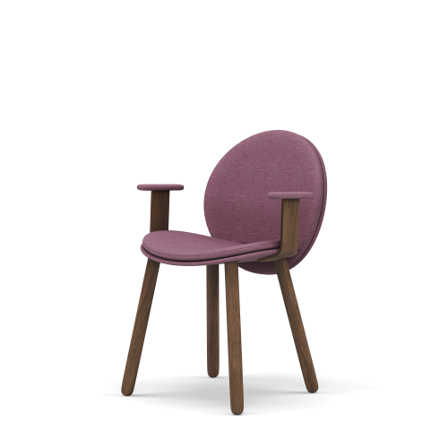 picture of Maha dining chair, Armrest