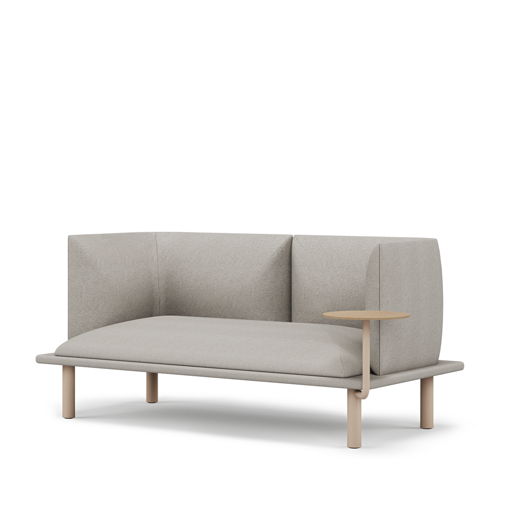 Multis sofa, Two seats, a modular system for a comfortable workspace